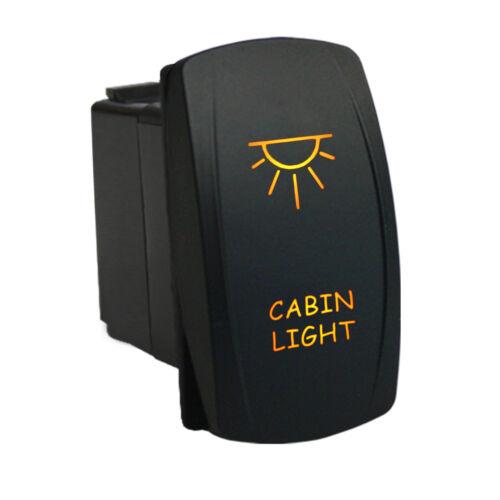 Rocker switch 6M10O 12V CABIN LIGHT LED amber ON//OFF waterproof SPST marine boat