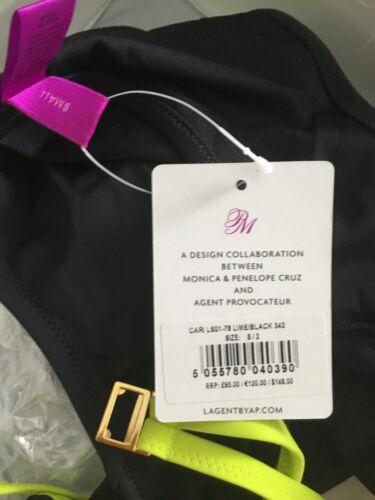 Agent Provocateur L/'Agent Black Cari Swimsuit Size Small  BNWT RRP £95.00