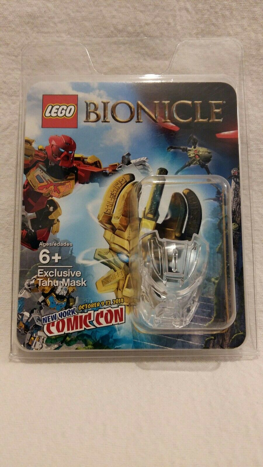 Lego NYCC 2014 BIONICLE Exclusive Clear Tahu Mask Hau Transparent