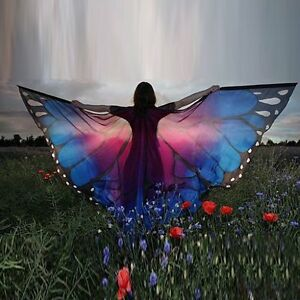 Women-039-s-Fashion-Soft-Long-Butterfly-Wing-Cape-Scarf-Large-Wrap-Shawl-Scarves
