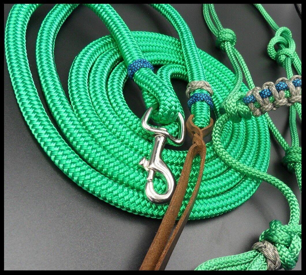 9ft Lead, Rope Halter Natural Horsemanship Unique Set Premium Quality