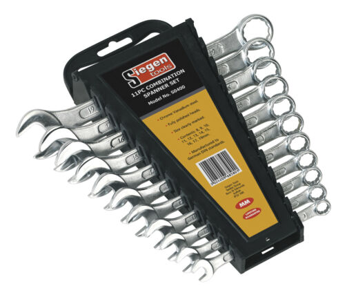 Siegen Combination Spanner Set 11pc Metric S0400 Handtool Tool Garage Workshop