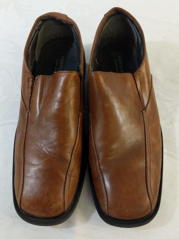 Venturini 12 For Men Shoes Sz 12 Venturini M Brown Leather Slip On Casual e58957