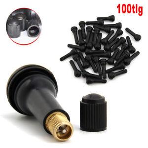 100x TR414 Gummi Ventile / Reifen Ventile auch für Stahlfelgen Aus DE Stock