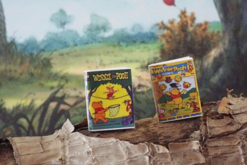 2  Miniature Vintage /'Winnie The Pooh/' OPENING Comics  Dollhouse 1:12 scale