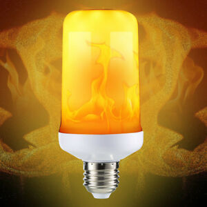LED-Flame-Effect-Fire-Light-Corn-Bulb-E27-9W-Simulated-Nature-Flicking-Lamp-New