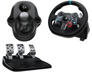 a09a42ed3ce LOGITECH Driving PC PS4 G29 Wheel + Pedals + Gearstick & Euro Truck ...