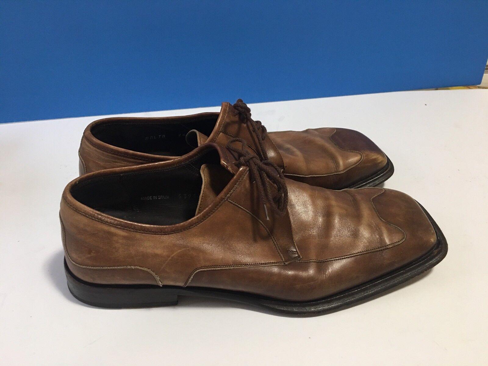 "Mezlan ""MALTA"" Mens Brown Tan Leather Square Toe … - image 3"
