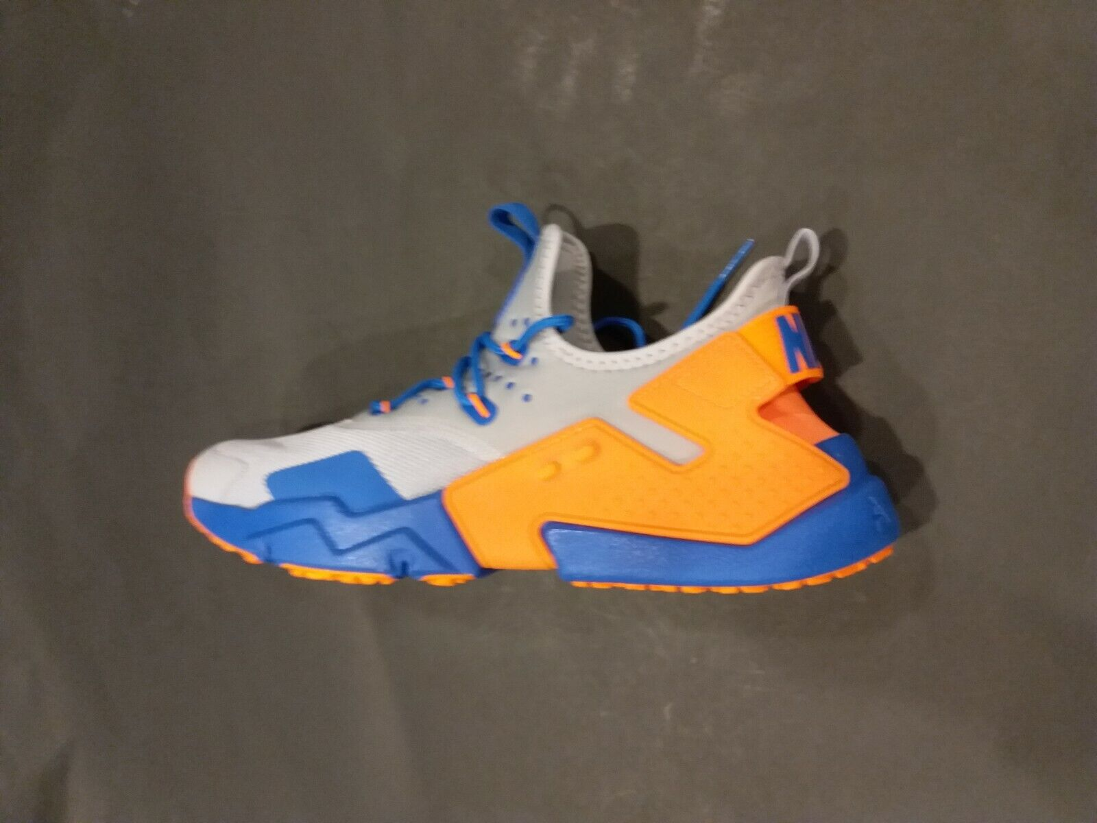 Nike Air Huarache Drift Grey blueee orange AH7334-005 Size 10 Rare colorway