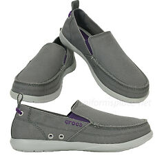 396cd77135f Crocs Shoes Men s Loafer Slip on Shoes Walu 11270 Canvas Colors upper Size  ...