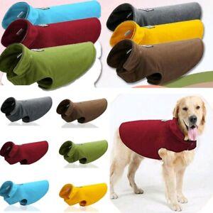 Haustier-Hund-Katze-Kleidung-Fleece-Warme-Weste-Maentel-Jacke-Hundepullover-Neu