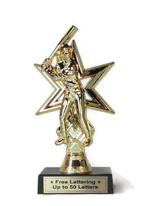 Softball-Trophy-Female-Batter-Home-Run-Economy-Star-Series-Free-Lettering