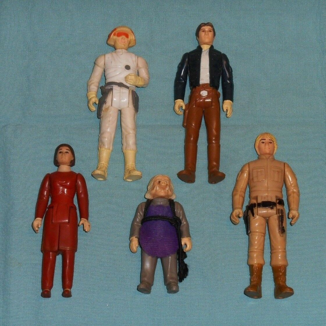 Vintage STAR WARS FIGURE LOT  176 Luke Leia Han Solo Bespin Ugnaught Lobot