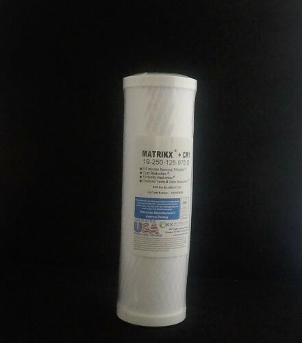 Water Filter Matrikx CR1 2.5 x 10 inch cyst and chlorine reduction 0.5 micron