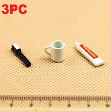 3PCs//Set 1:12 Scale Red Pots Dollhouse Miniature Re-ment Doll Home Scene Gift