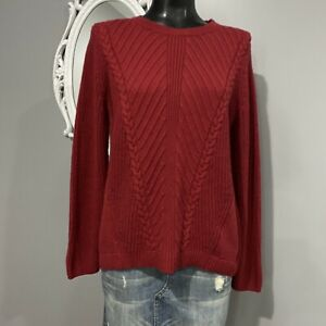 Medium-LANDS-END-Womans-Brick-Red-Sweater