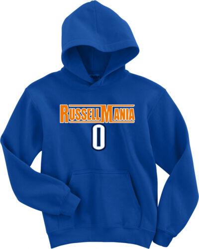 """Oklahoma City Thunder Russell Westbrook /""""Russellmania/"""" Hooded SWEATSHIRT HOODIE"""