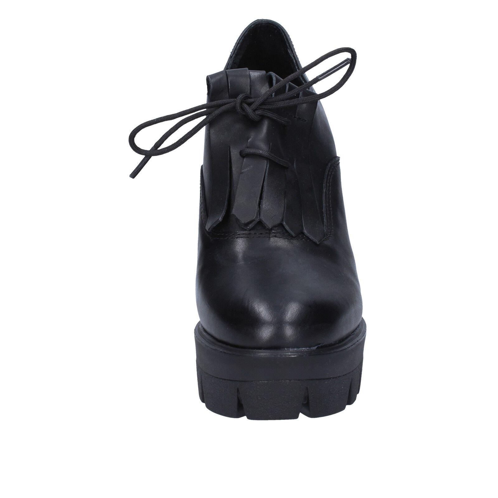 Zapatos mujer para mujer Zapatos J.K. ácido 6  Botas al tobillo cuero negro BX75639 cd8743