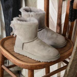 UGG MINI BAILEY BOW II GRIGIO Tutti Stivali e boot