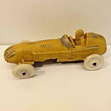 Vintage Auburn Rubber Yellow Indy Race Car Toy, No Box