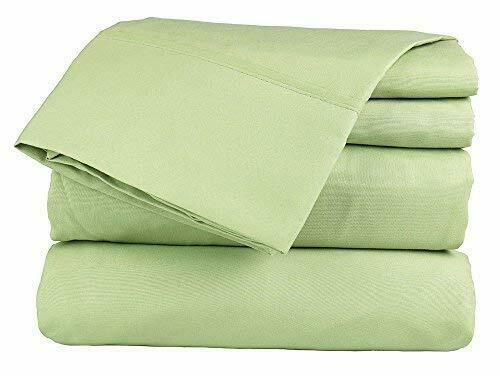 Extra Pocket 5 Piece Split Sheet set 1000TC Pima Cotton All Size Sage Solid