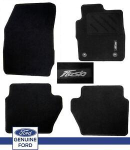 Tailored Black 11+ GREY TRIM Car Floor Mats Carpets Ford Fiesta mk8