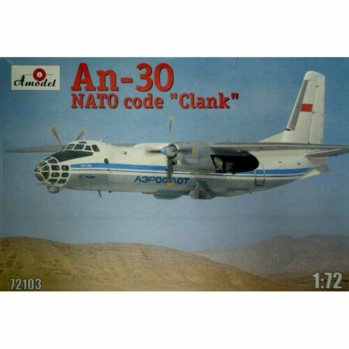 Amodel 72103-1//72 Antonov An-30 /'Clank/' Soviet Aerial Cartography Aircraft kit