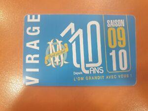 Carte Abonnement Olympique De Marseille OM 2009 2010 09 10 South Winners SW