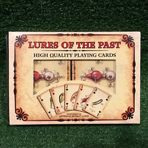 Rivers-Edge-Lures-Of-The-Past-Antique-Fishing-Lures-Playing-Cards-Set-Of-2-NEW