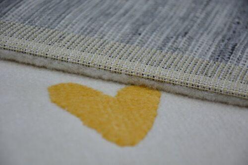 MODERN KIDS ROOM RUG cream Cloud Hearts Bird /'PASTEL/' Thick CHEAP Best-Carpets