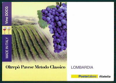 """PräZise Italien Werbekarte """"made In Italy"""" Weinanbau Wein Wine Trauben Lombardia Ed48"""