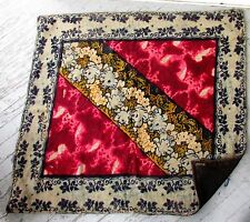 Vtg Antique CHASE Wool HorseHair Floral Buggy Sleigh Carriage Robe Lap Blanket