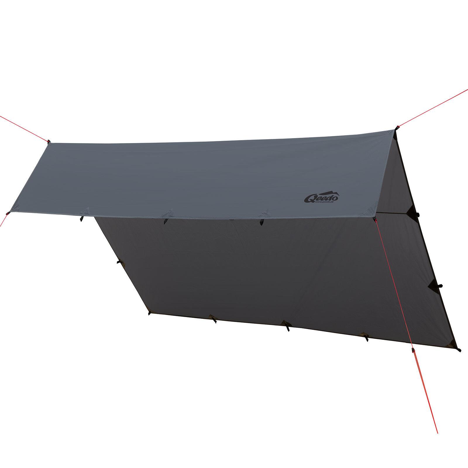 QEEDO Smart Tarp Trekking Sonnensegel Camping Outdoor 3 x 3 m wasserdicht robust