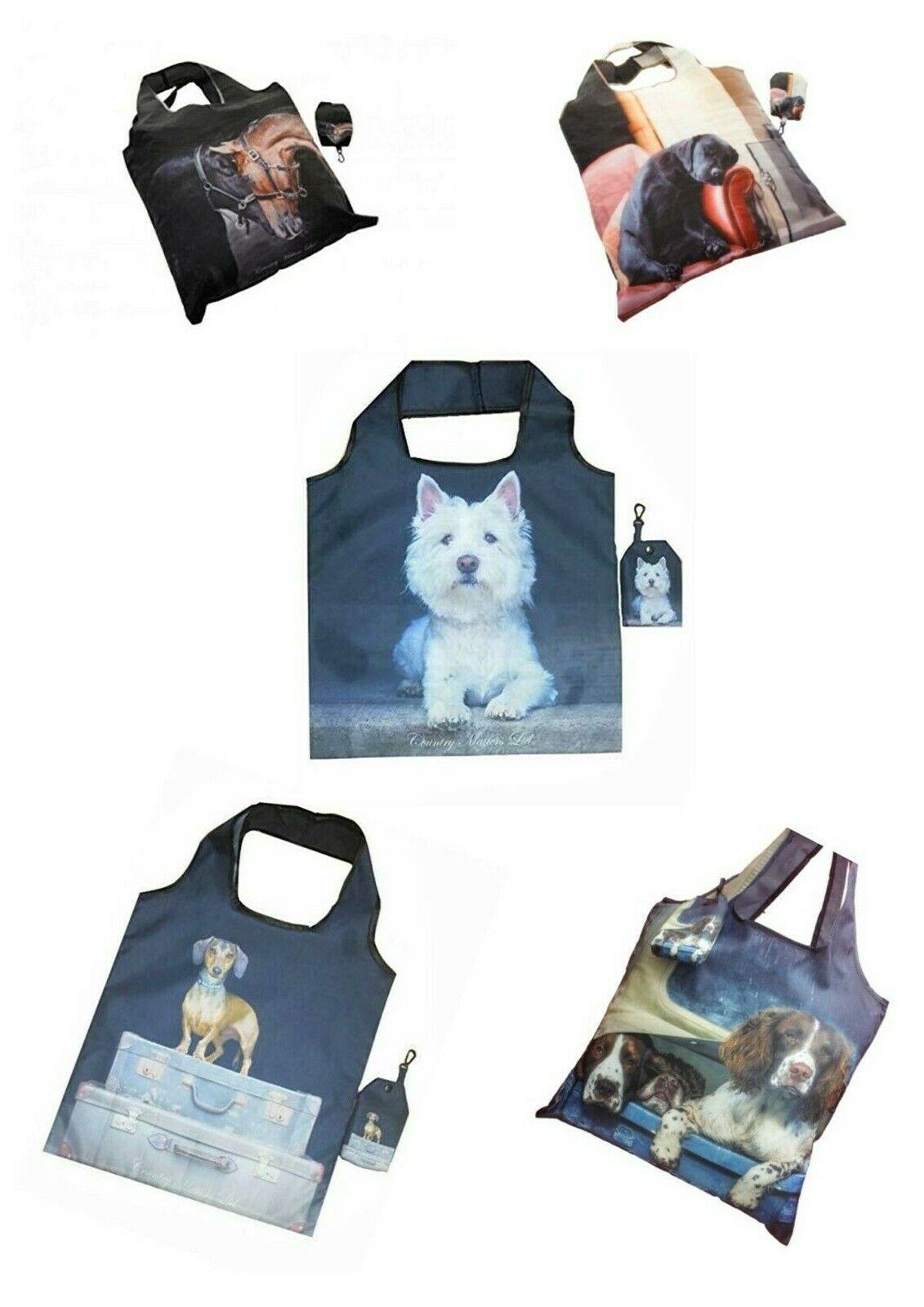 Image 01 - Country-Matters-Shopping-bag-Fold-Up-Bag-Fold-Away-Bag-Clip-Bag-Tote-Bag