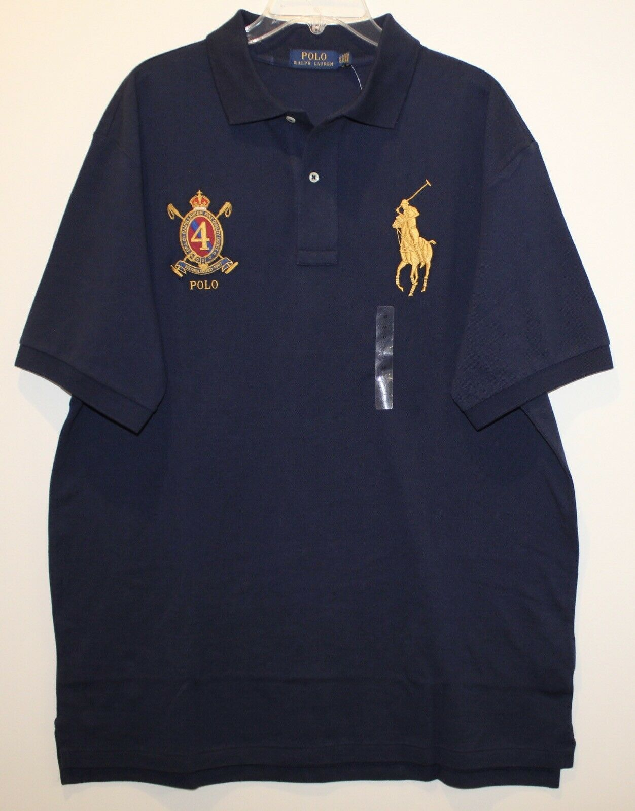 Polo Ralph Lauren Big and Tall Mens Navy bluee Big Pony PRL Polo Shirt NWT LT