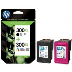HP-300XL-Black-amp-Colour-Original-OEM-Cartridges-CC641EE-CC644EE-Deskjet-Printer