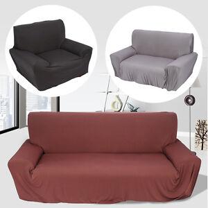 1 2 3 sitzer einfarbig 3 farbe sofahusse stretchhusse sessel berwurf sofaschoner ebay. Black Bedroom Furniture Sets. Home Design Ideas