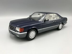MERCEDES-560-sec-c126-1985-metallico-BLU-1-18-KK-scale-NEW