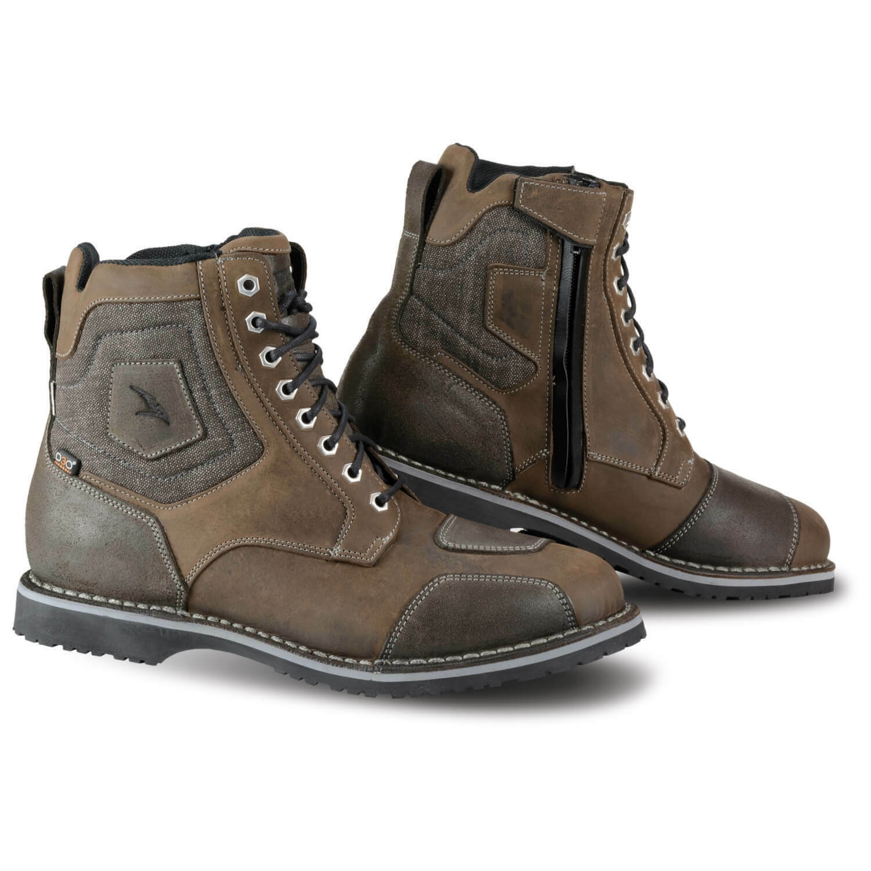 Falco Ranger Men's Urban Motorcycle Boots short Shaft Waterproof - Braun