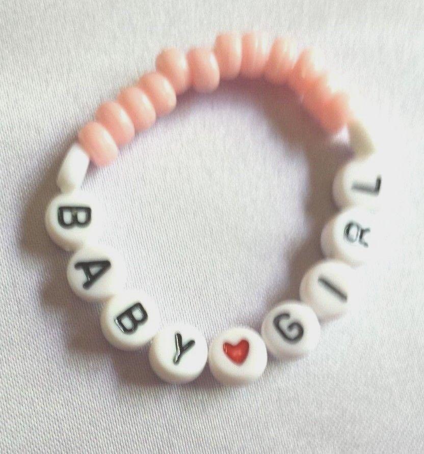 Personalized Baby Name Beaded Bracelet Keepsake Boy Newborn Pics Baby Book