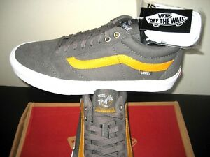 12ef075046 Vans Mens TNT SG Pewter Grey Sunflower Skate Shoes Suede Canvas Size ...