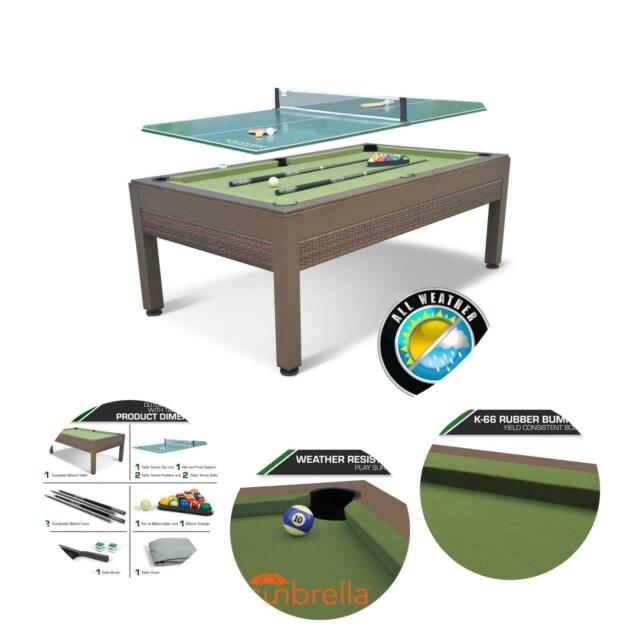84-inch Outdoor Billiard Pool Table Tennis Top Resin ...