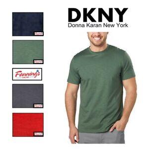 NEW-DKNY-Men-039-s-Short-Sleeve-Crew-Neck-Soft-Classic-Fit-Tee-T-Shirt-VARIETY-B31