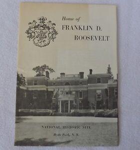 """Vintage """"Home of Franklin D. Roosevelt"""" Informational Pamphlet"""