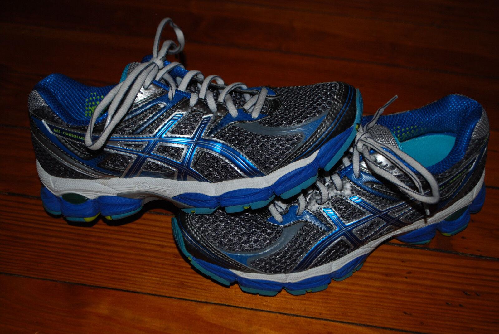 Women's Asics Gel Cumulus 14 Silver, Blue, Seafoam Running Sneaker (6.5)