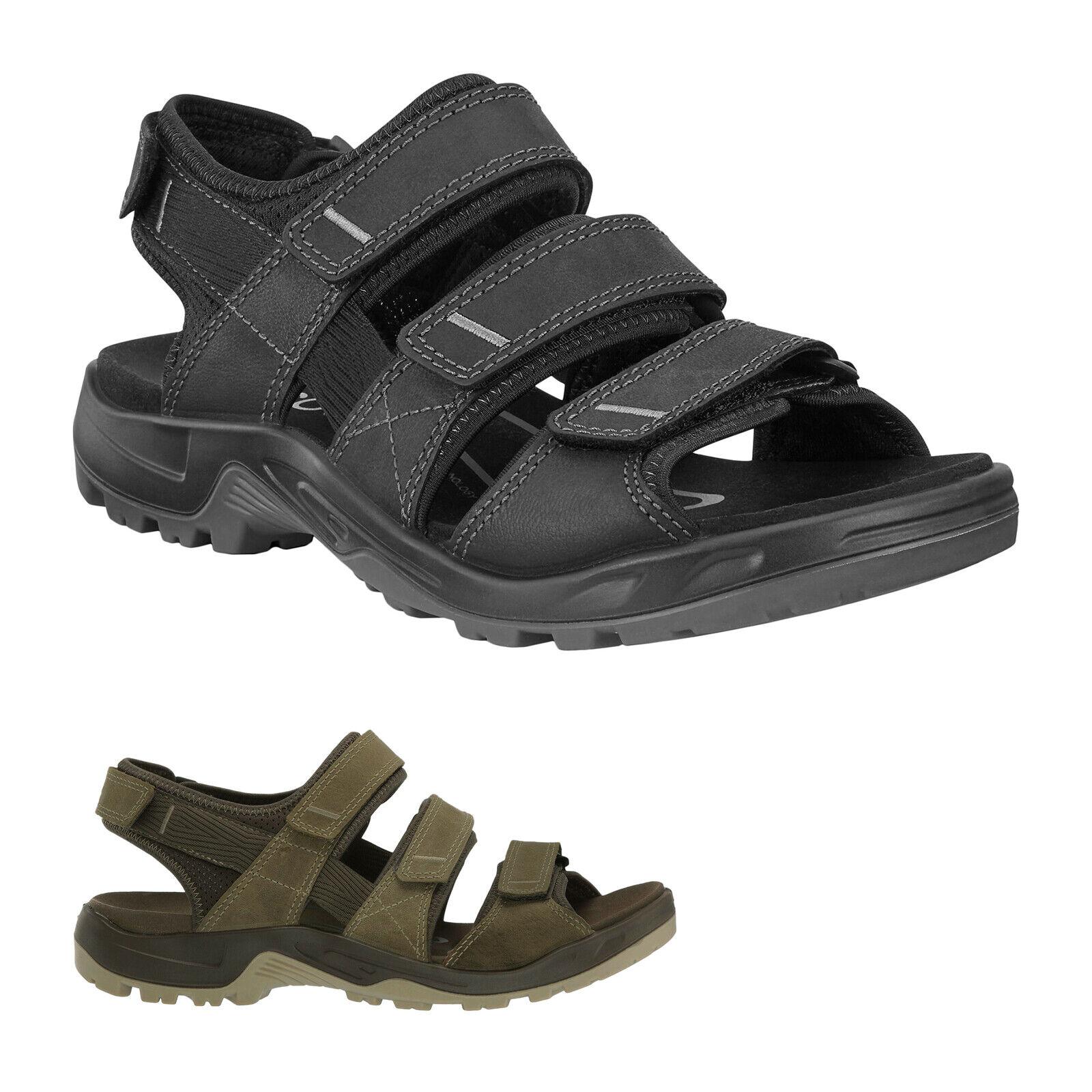 Ecco todoterreno cuero comfortable adjustable outdoor Walking señores sandalias