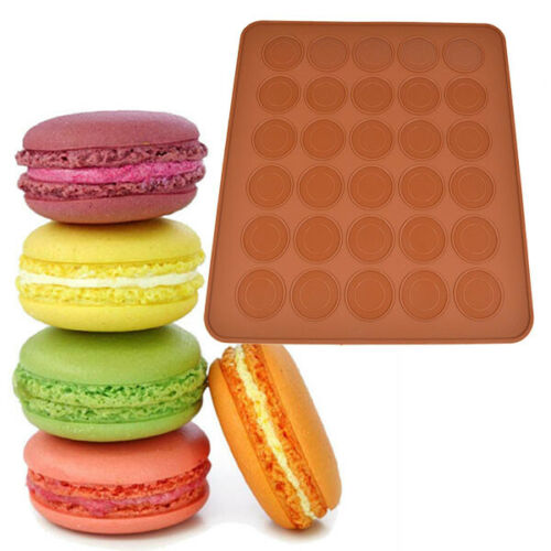 Pastry Muffin Mold Macaron Oven Cake Baking Sheet Mat Coffee Color For Bakery