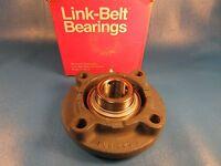 Linkbelt Fc3u220n 4-bolt Flange Cartridge Ball Bearing 1 1/4 Shaft