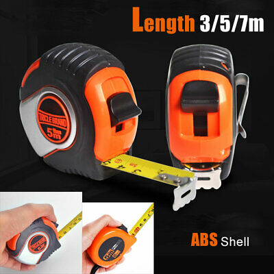 5m Metric Rubber Covered Steel Tape Measures Retractable Measuring Tools