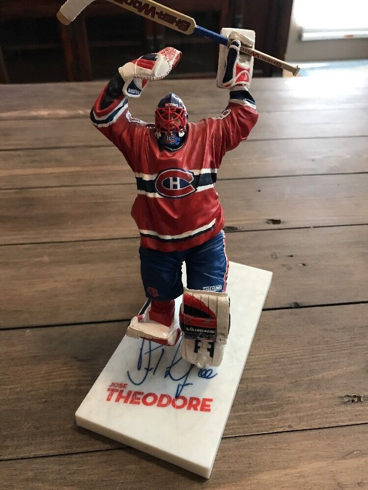 Signed Jose Theodore Mcfarlane  NHL  Series 10 cifra Autographed